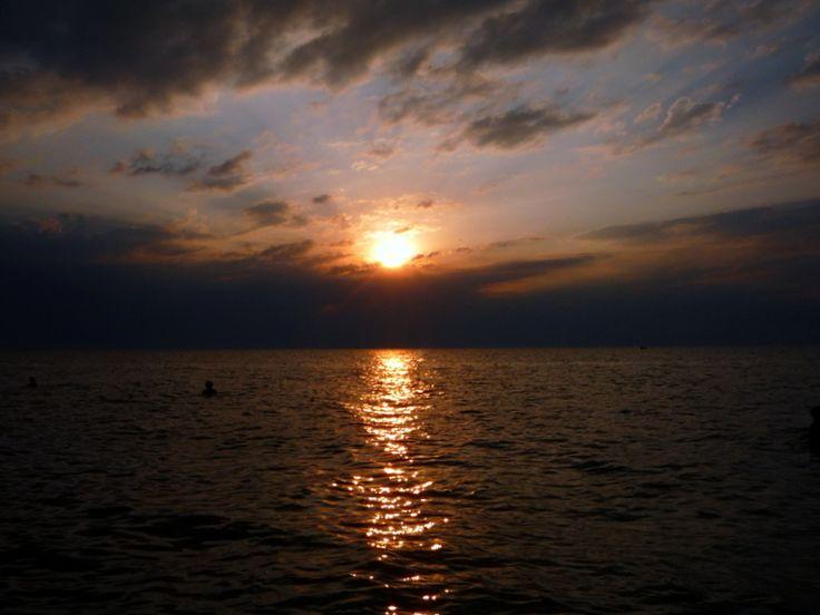 Sunset at the Sea of Azov, Krasnodar region, Russia