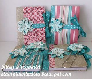 Altered mini composition books - great gifts for the ladies in my class...could be prayer journals on the go...
