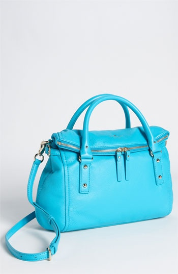 kate spade new york 'cobble hill - leslie small' leather satchel: Leather Satchel, Small Leather, Pretty Colors, Cobbl Hill, Leslie Small, Spade Cobbl, Hill Leslie, Kate Spade, Spade Handbags