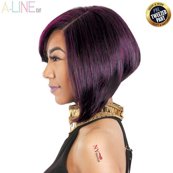 Zury Hollywood Sis 100% Human Hair A-Line Cut Pre-Tweezed Part Wig - HR-A LINE DEX • Angled line (A-Line) cut style• Deep & wide, soft & natural, pre-tw