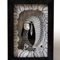 "Cadre-vitrine illustré : ""squaw"""