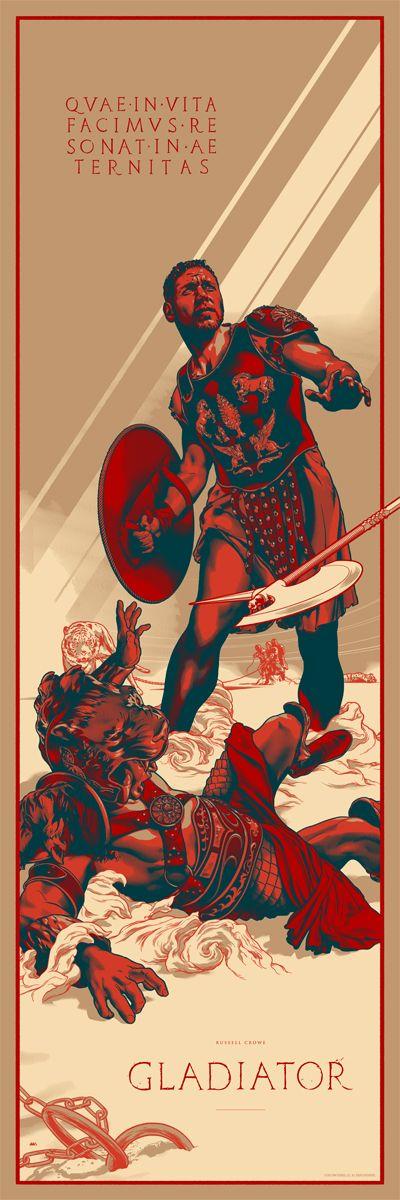 Mondo GLADIATOR Tribute Poster by Martin Ansin
