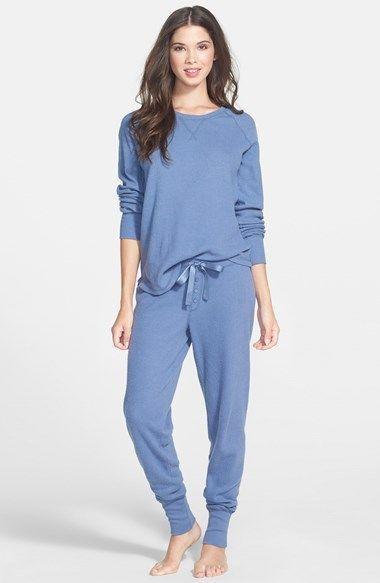 Pj Salvage Brushed Thermal Pajamas  Thermal Pajamas -8362