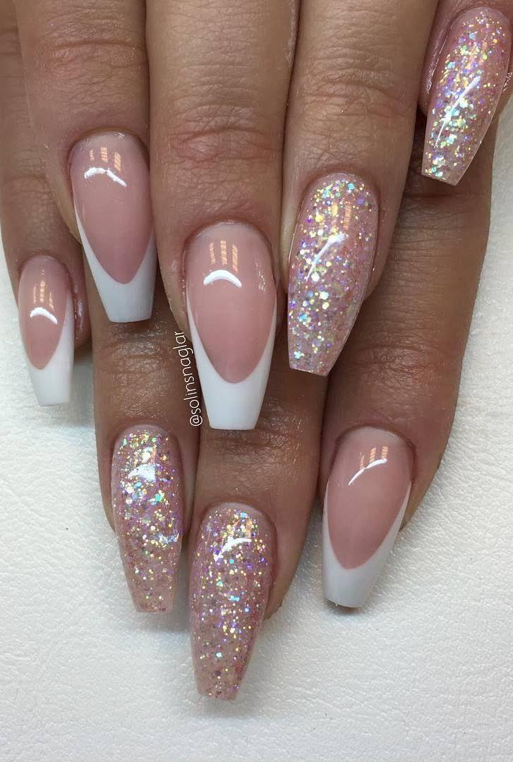 Franskt Med ljusrosa Glitter