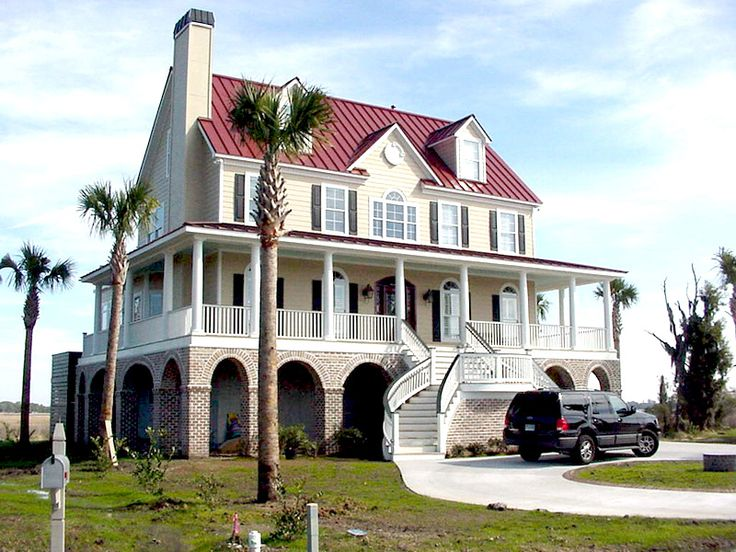 17 best images about huge houses on pinterest vacation for Beach house designs with wrap around porch