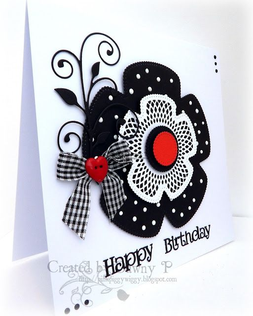 hand crafted card from Blog Tonic: Black & White & Red all Over :) - Dawny P