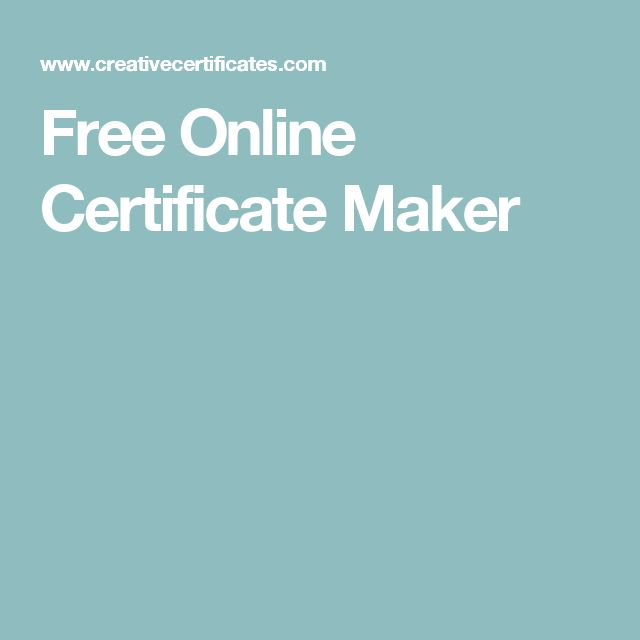 Free Certificate Maker To Create Personalized Printable Award Certificates  For Any Occasion. Customize The Certificates Online In Under 1 Minute Free!  Certificate Maker Online Free