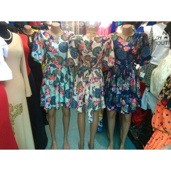 Платье Кружки + шелк