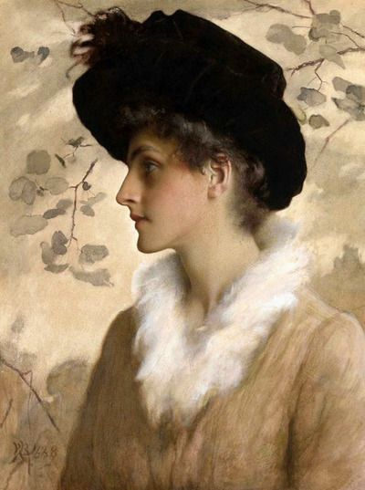 jillthejellyfish:    Portrait of a lady by George Henry Boughton 1888