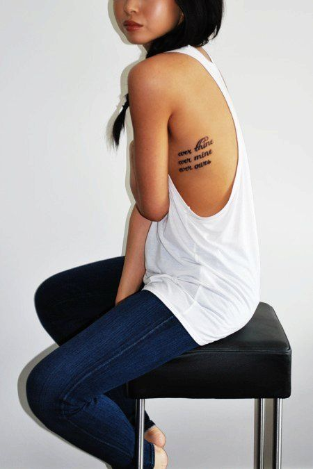 Hot Rib Quote Tattoos for Girls - Sexy Rib Quote Tattoos for Girls