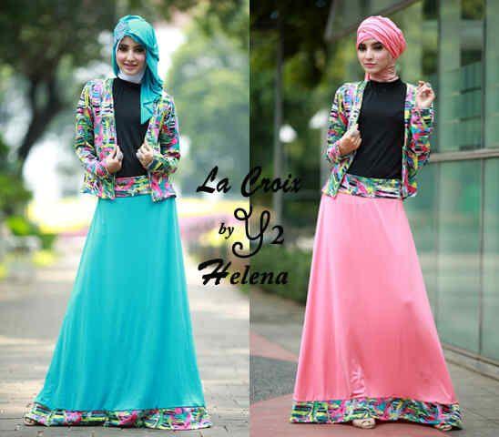 Maxi Dress Remaja Helena 4in1  Online dan Murah - http://www.butikjingga.com/maxi-dress-remaja-helena-4in1