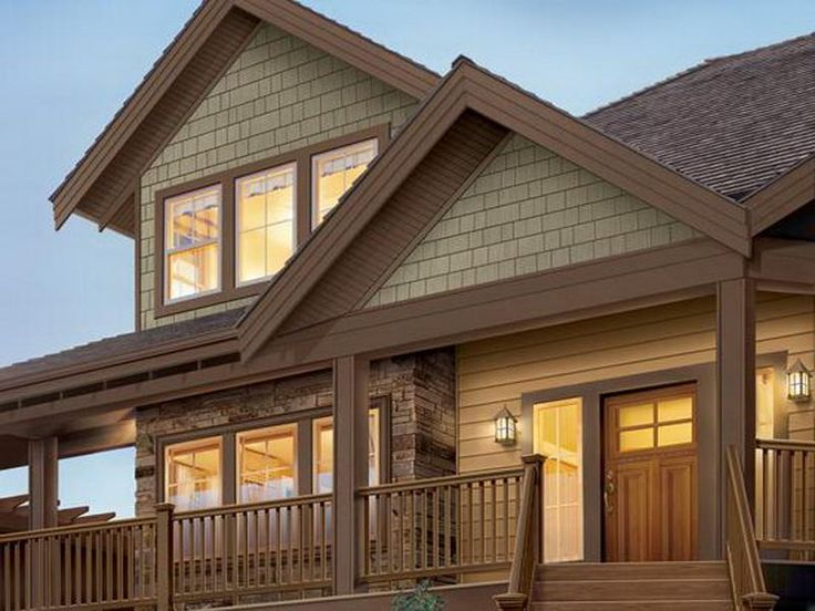 Dark brown exterior house trim best brown vinyl siding for Types of house siding materials