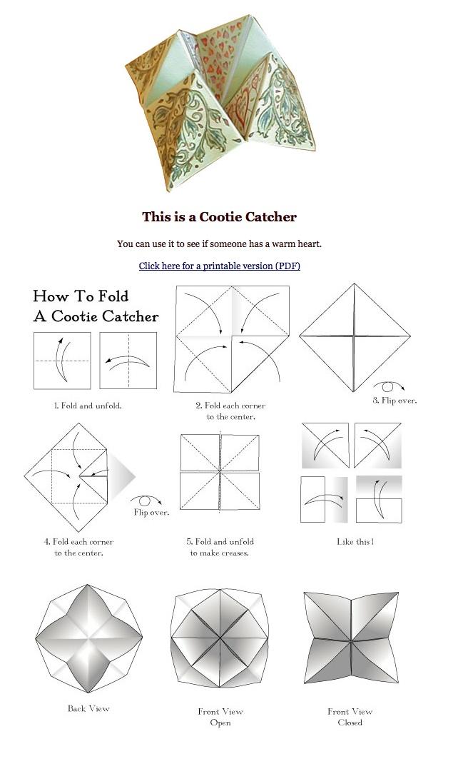 diy cootie catcher diy randomness pinterest catcher math and we. Black Bedroom Furniture Sets. Home Design Ideas