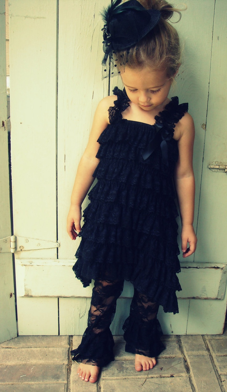 Toddler Lace Dress and Lace Leg Warmer. $25.00, via Etsy.