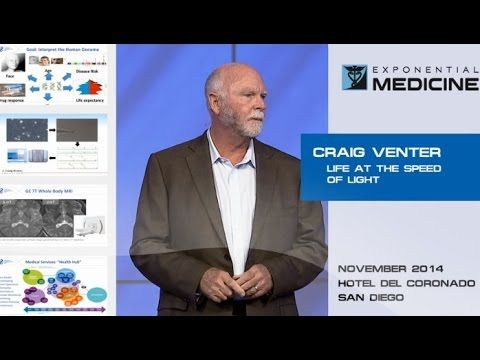 Craig Venter :: Life at the Speed of Light • Exponential Medicine • 2015 https://www.youtube.com/watch?v=pp2BZND7xLc [@ 22:30 does genome sequencing of every patient at the Moores Cancer Center | University of California San Diego]