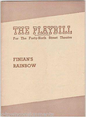 FINIAN'S RAINBOW - DOROTHY CLAIRE, IAN MARTIN VINTAGE 1940s THEATER PLAYBILL