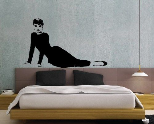 Audrey Hepburn Wall Decal Funny Face Life Size   58 Inch Wide |  MollsDesigns   Part 86