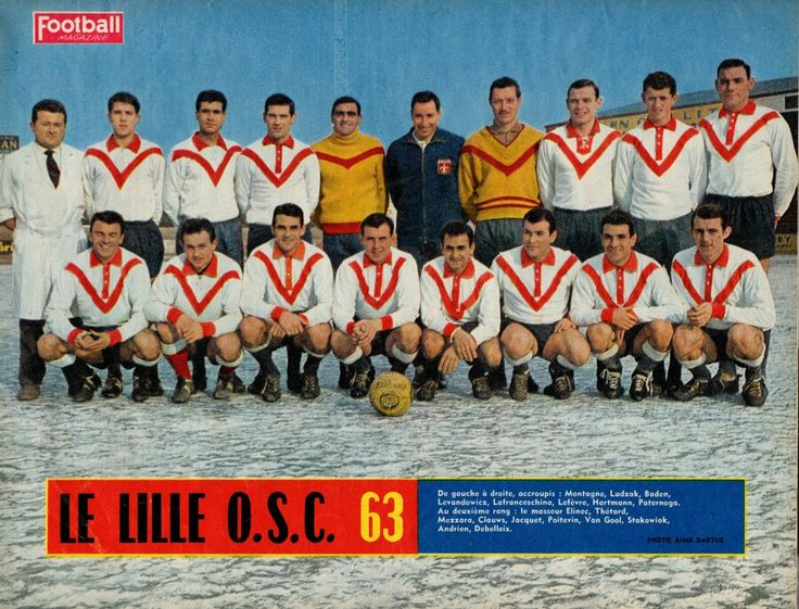OSC Lille of France team group in 1963.