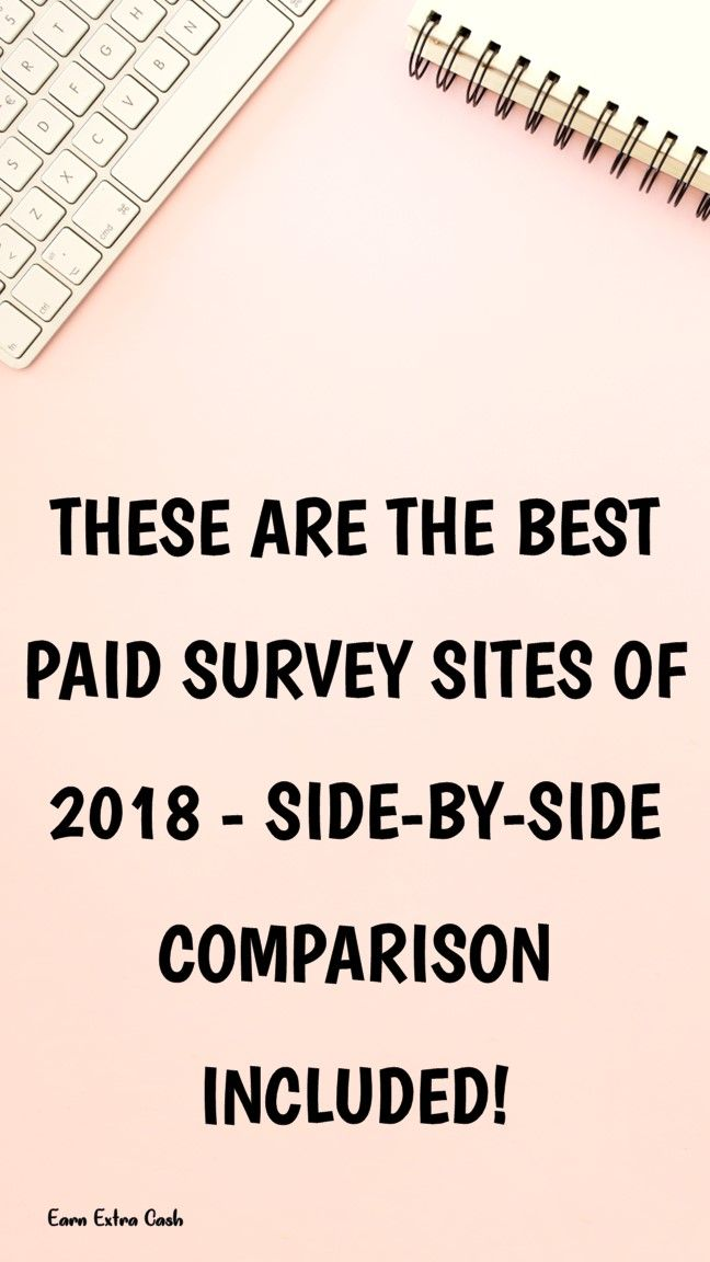 These Are The Best Paid Survey Sites Of 2018 Side By Side