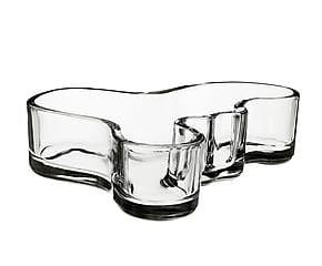 Ciotola centrotavola in vetro Alvar Aalto trasparente - 40x14 cm
