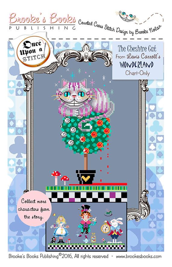 Brooke's Books Wonderland Cheshire Cat Cross Stitch Chart-Only (Instant Download)