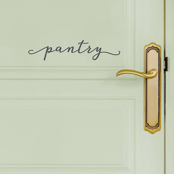 Pantry Door Decal  Modern Farmhouse Style Kitchen Wall Decals