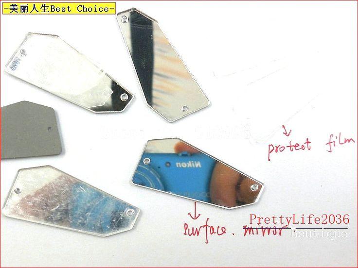 Zeldzame nieuwe spiegel mirrored stenen en kristallen steentjes 19x41mm strass crystal naaien accessoires trouwjurken apparel diy(China (Mainland))