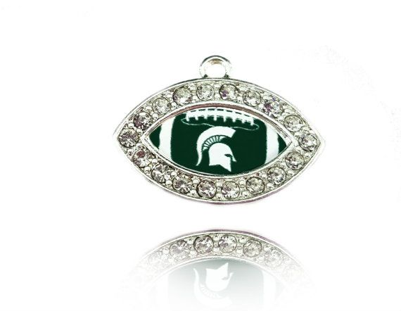 Check out this item in my Etsy shop https://www.etsy.com/listing/257724100/michigan-state-university-football-charm