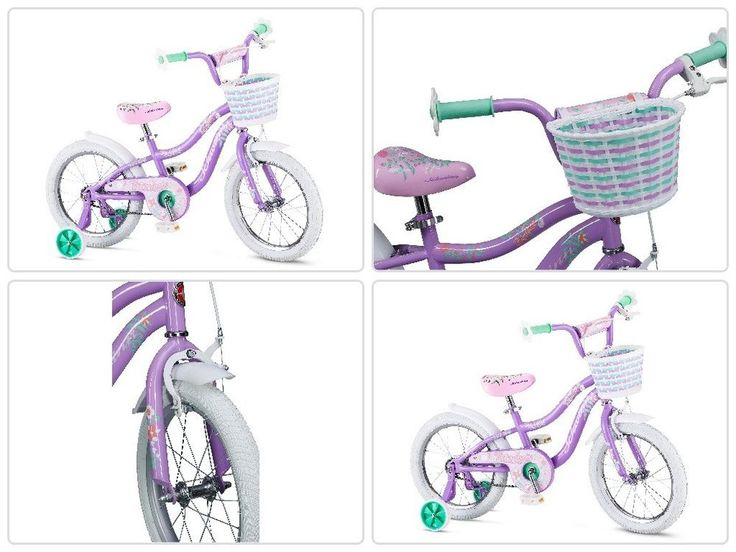 Girls Kids Bike 16 Inch With Training Wheels Handlebar Basket Child Bicycle New #psdiscount