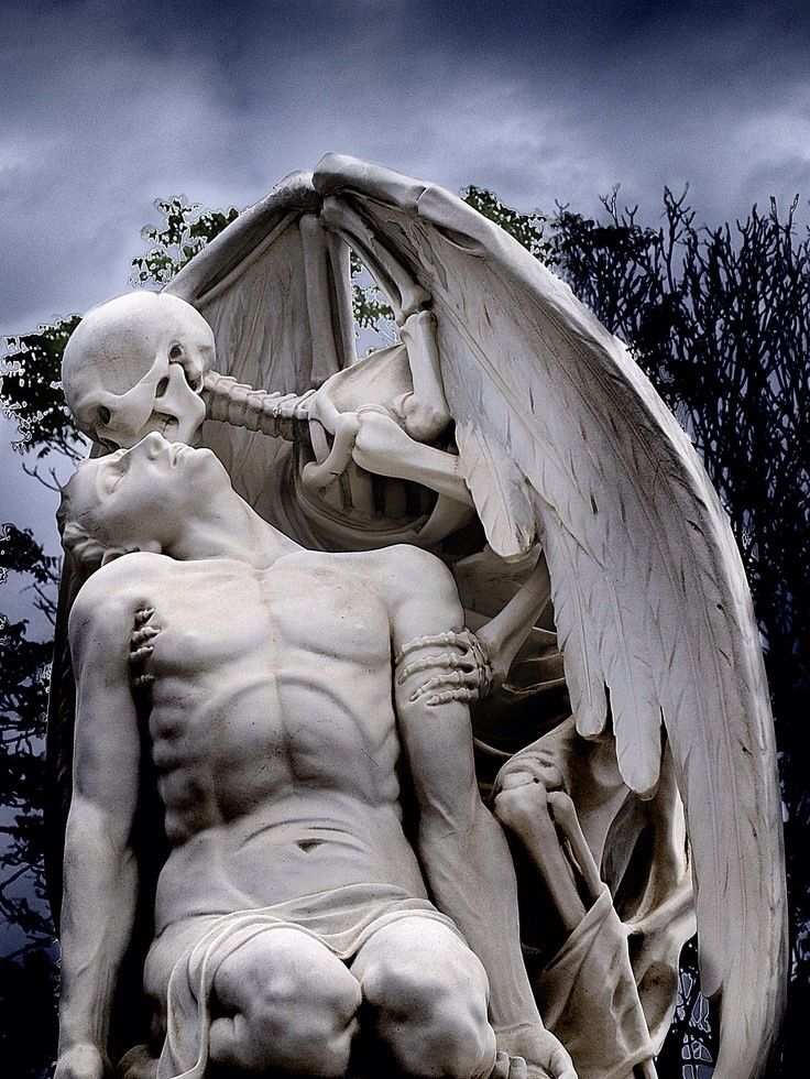 Barcelona's Poblenou Cemetery. The Kiss of Death dates back to 1930.