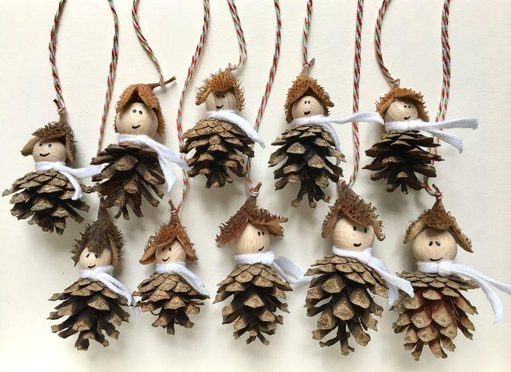 """Weihnachtsdeko - """"Waldwichtel""""-Baumschmuck 10er-Set - ein Designerstück von EmbossingBird bei DaWanda"""