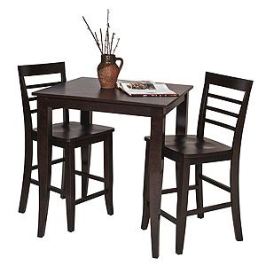 "For smaller spaces - pub table and bar stools from the ""Rogers Pub Collection"" available at World Market"