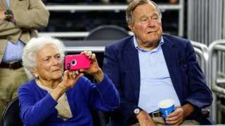 George HW Bush discharged from hospital