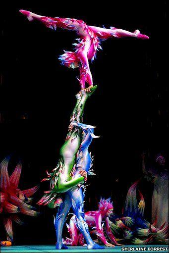 Performers in Cirque Du Soleil's Varekai
