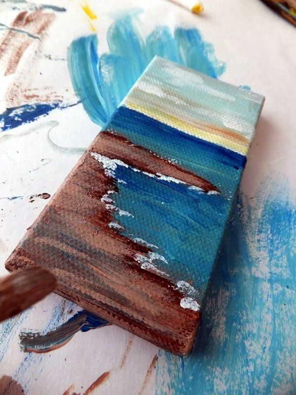 Best 25 small canvas ideas on pinterest small canvas for Things to do with mini canvases