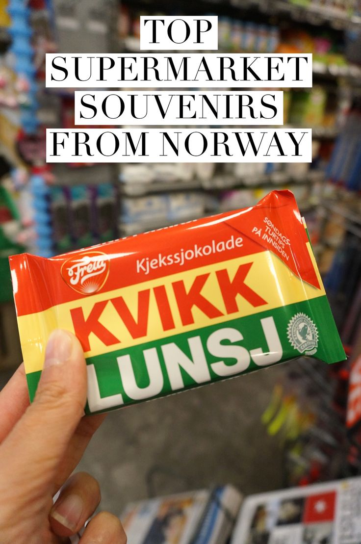 Bargain souvenirs from Norway! What candy, jams, mustards and other interesting food items to pick up from a Norwegian supermarket.
