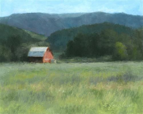 DPW Fine Art Friendly Auctions - The Red Barn by Linda Jacobus