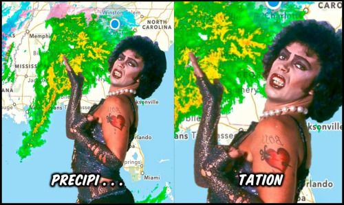 I'm dead. From laughter. This is perfection. (Rocky Horror Picture Show - Tim Curry)