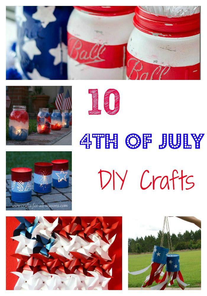 10 DIY 4th of July Crafts - OC Mom Blog   OC Mom Blog #crafts #4thofjuly