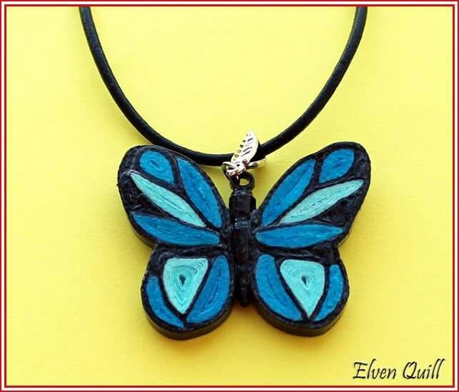 Blue Butterfly - quilling by Elven Quill www.facebook.com/elven.quill