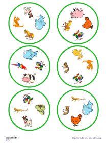 Librairie-Interactive - DOBBLE - Les animaux 4 images