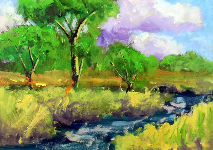original art work impressionist oil painting of the landscape by  Ken Burnside #Tonalism