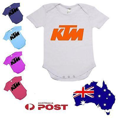 Baby Onesie toddler infant bodysuit Romper kids new ktm motocross bike off road