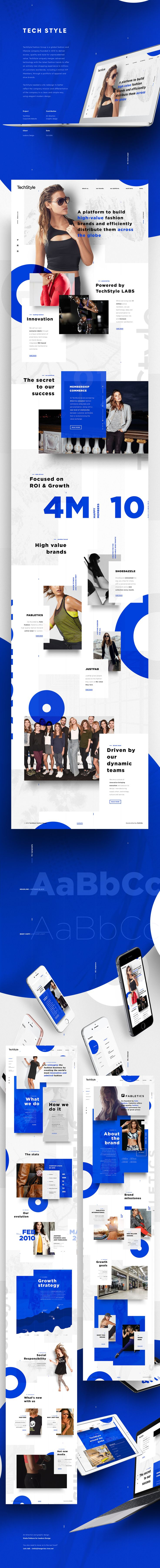 Art direction and graphic design for the new TechStyle Fashion Group corporate website.  By Stella Petkova