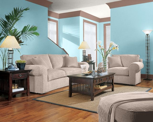 Living Room Color Idea Like This Blue Maybe On One Wall