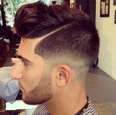 Very nice Hair fade undercut! Long top and beard looking crisb