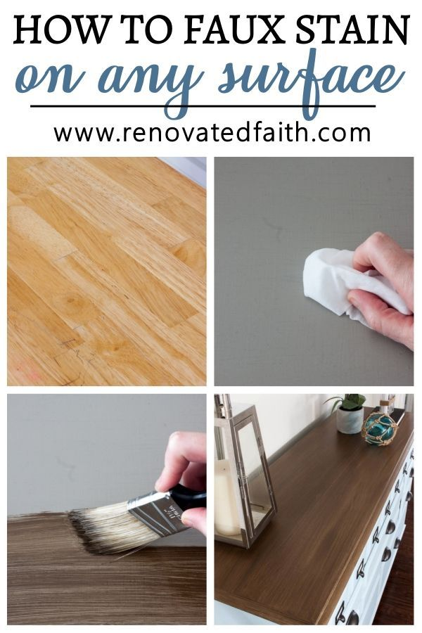How To Apply Paint That Looks Like Stain 6 Stain Shades To Pick From Staining Furniture Staining Wood Refinishing Furniture