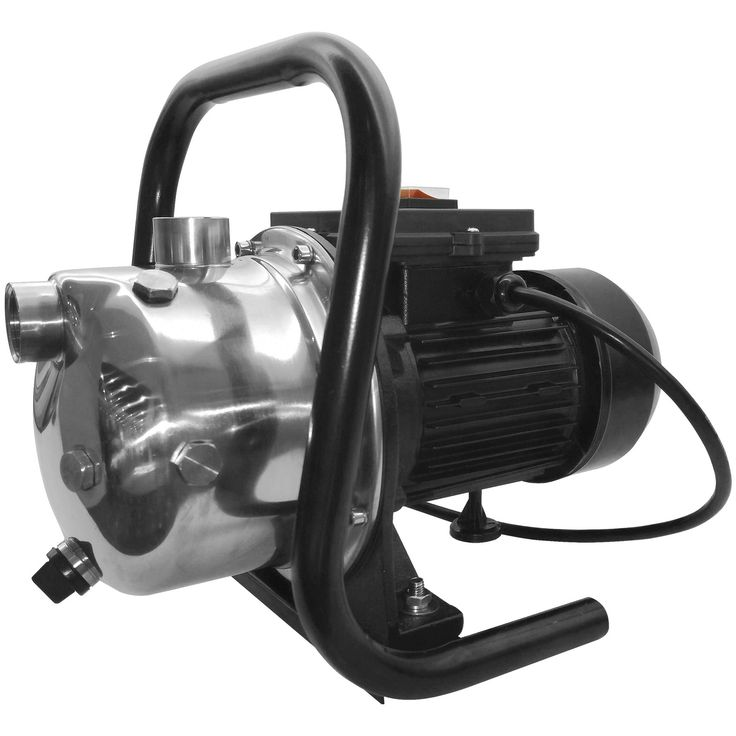 Superior Pump 96110 Portable Sprinkler Pump, 1 HP, Silver stainless steel