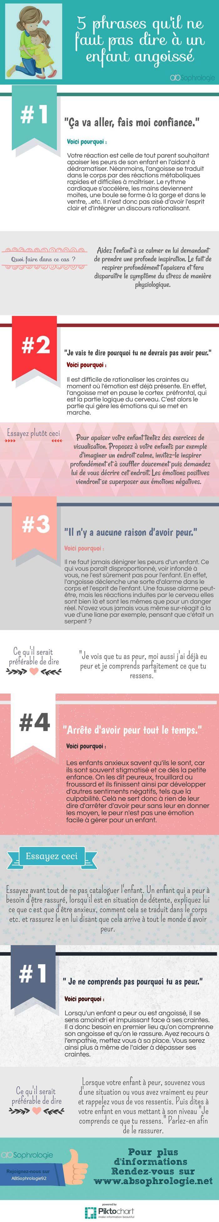 5 Phrases qu'il ne faut pas dire à un enfant angoissé