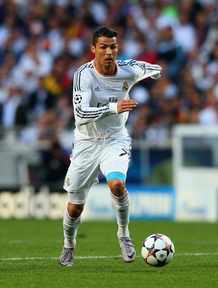 Cristiano Ronaldo in action during the UEFA Champions League final match between Real Madrid CF and Club Atlético de Madrid at Estadio Da Luz on May 24, 2014 in Lisbon, Portugal.